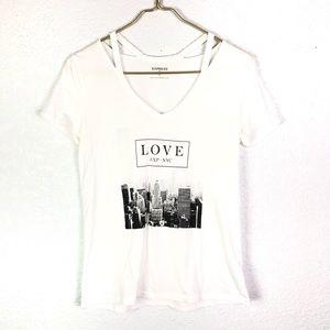 Express LOVE EXP NYC Skyline Tee Shirt